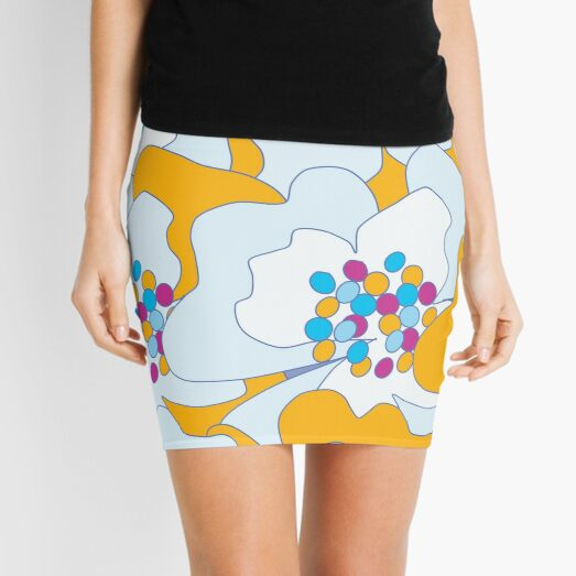 Late Spring Passion Flowers 2 Mini Skirt