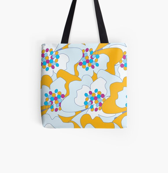 Late Spring Passion Flowers 2 All Over Print Tote Bag