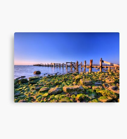 Old Bay Pier Canvas Print