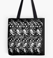 Floral Multi Layer Pattern - Monochrome Tote Bag