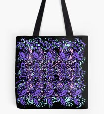 Floral Multi Layer Pattern - Purple Shades Tote Bag