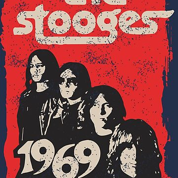 The Stooges Vintage 70s Distressed 1970s Retro Faded 1969  by neonfuture
