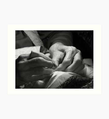 With these hands ... Art Print