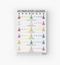 Colours of Common pH Indicators Hardcover Journal