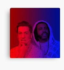 Lienzo Daveed Diggs y Rafael Casal 3 (rojo y azul)