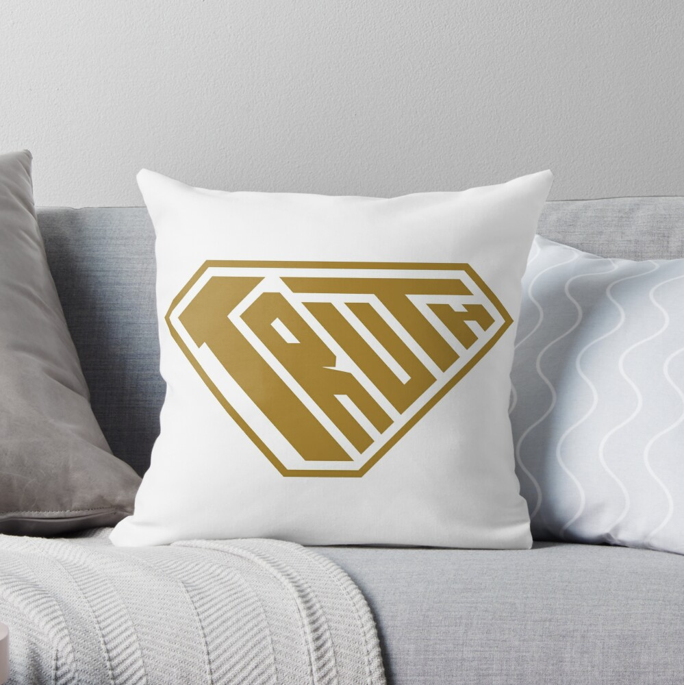 Truth SuperEmpowered (Gold) Throw Pillow