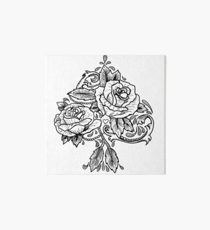 Flower Spade Art Board Print