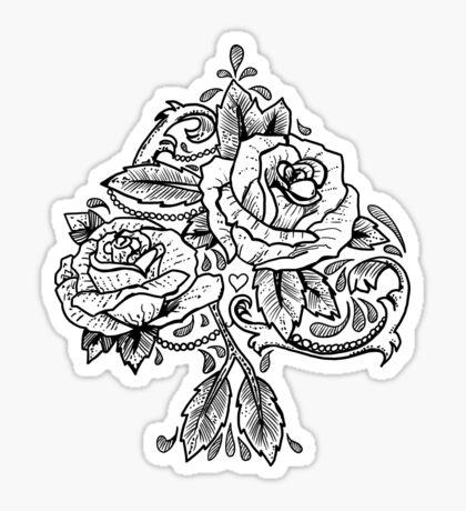 Flower Spade Sticker