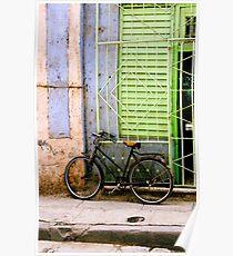 Bicycle, Havana, Cuba Poster