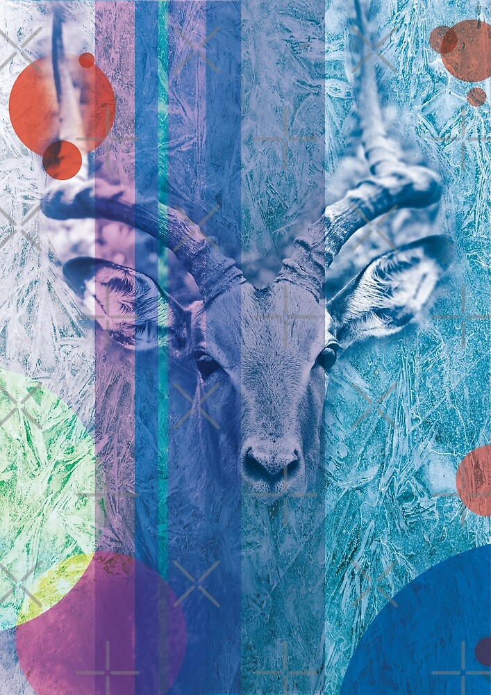 Ibex digital art by Parallax laser design