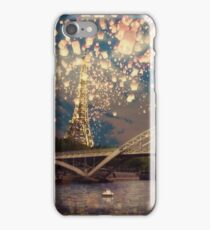 Love Wish Lanterns over Paris iPhone Case/Skin