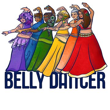Rainbow belly dancer by Boogiemonst