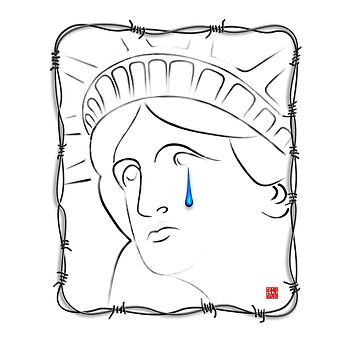 Statue of Liberty Crying by MikePrittie