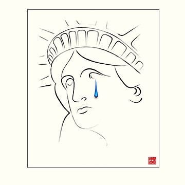 Statue of Liberty Crying Poster by MikePrittie