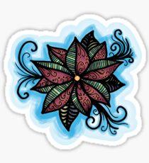 Jewel-tone flower Sticker