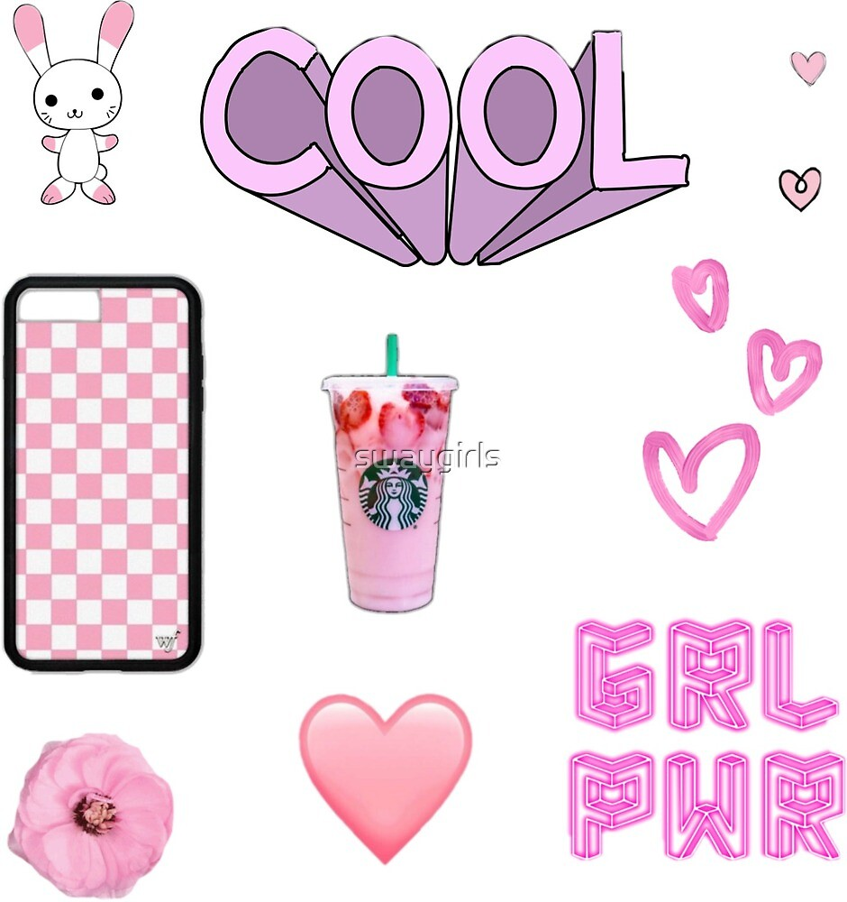 Pink Aesthetic Sticker Pack By Swaygirls Redbubble