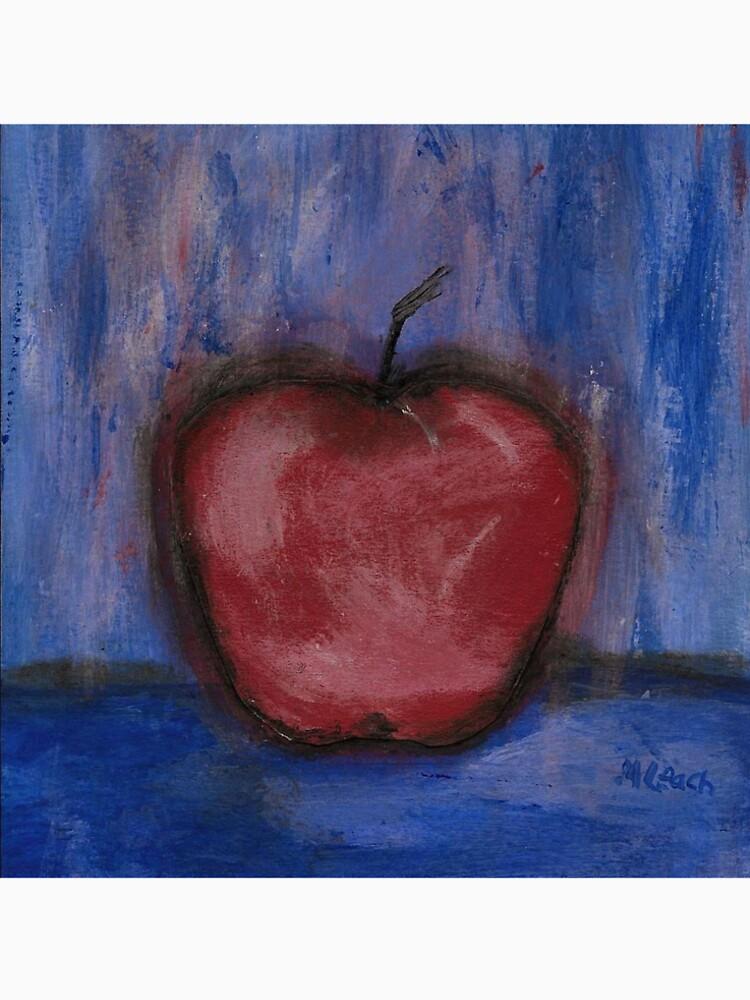 Big Red Apple ln Denim by ArtFactory5