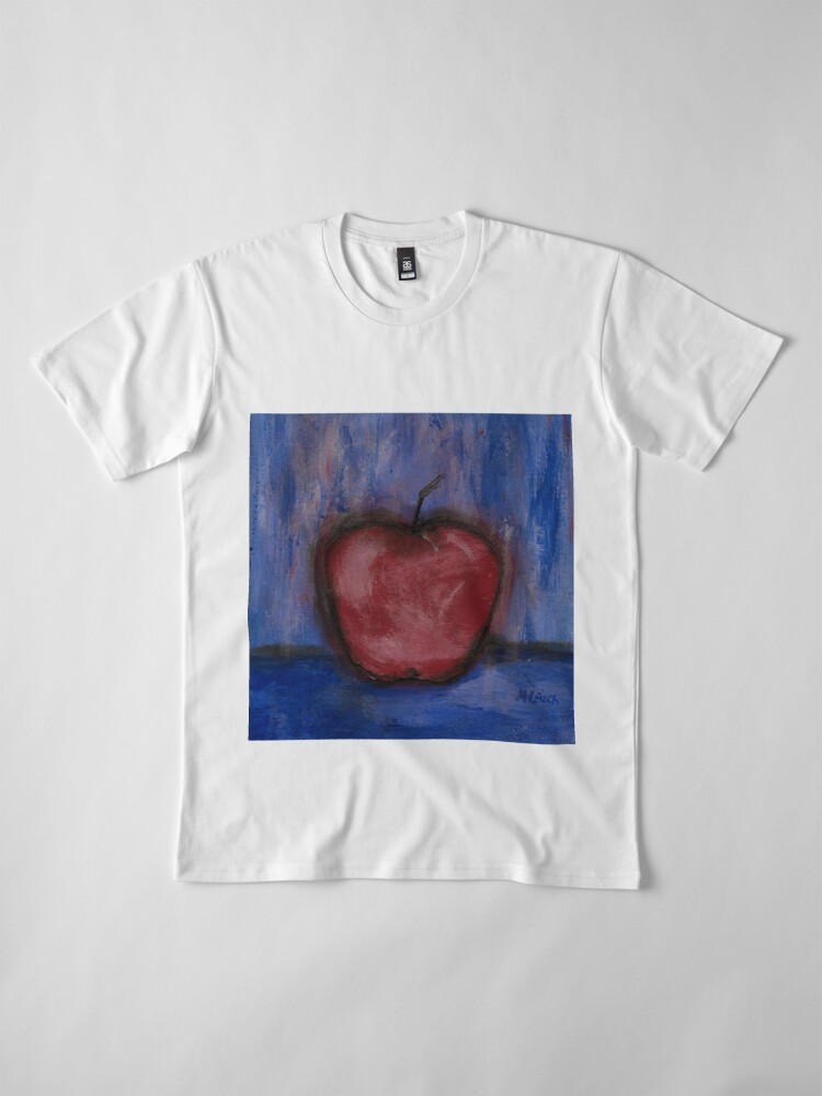 Alternate view of Big Red Apple ln Denim Premium T-Shirt