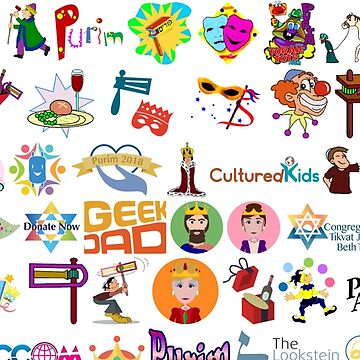 Purim, Clip art, people, teenager, adolescence, text, graphics, illustration, child, sketch, fun, cute by znamenski