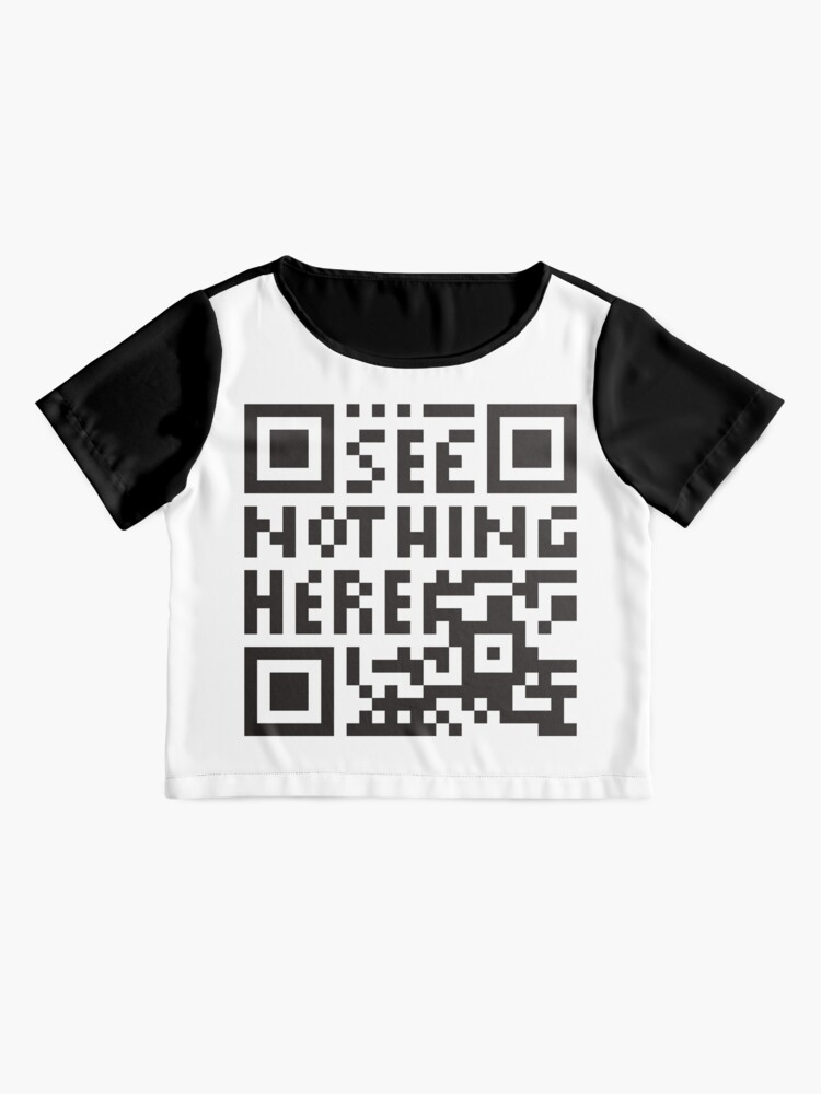 Alternate view of  confuse surveilling scanner - undecodable qr code  Chiffon Top