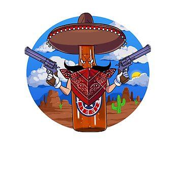 Cinco De Mayo Mexican Western Beer Bottle by Nosek1ng