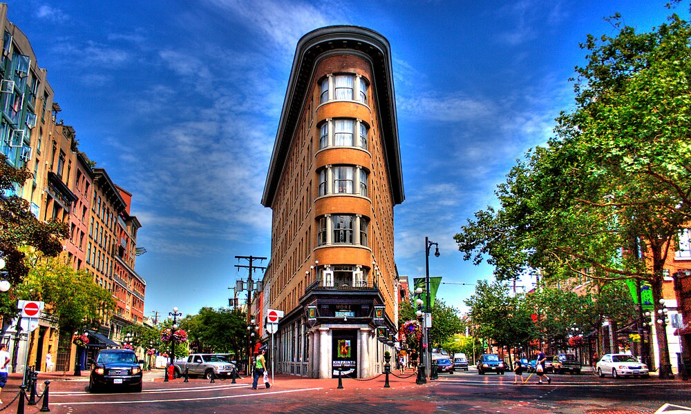gastown flat iron building