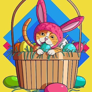 Easter Cat Bunny Rabbit by Nosek1ng
