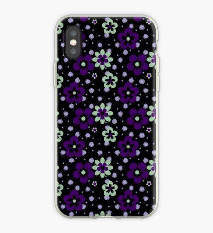 Purple pansy flower pattern iPhone Case