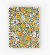 Marigold and Daisy Spiral Notebook