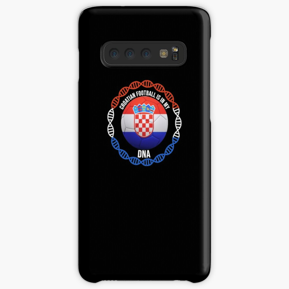 Croatian Football Is In My DNA - Gift For Passionate Croatian Football Soccer Fan Who Loves Or Supports The Nation of Croatia Hüllen & Klebefolien für Samsung Galaxy