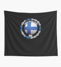 Finnish Football Is In My DNA - Gift For Passionate Finnish Football Soccer Fan Who Loves Or Supports The Nation of Finland Wandbehang