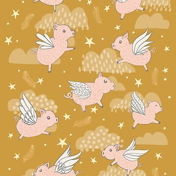 When Pigs Fly in Gold by latheandquill
