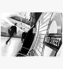 Baker Street Underground in London Poster