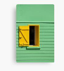 Green Wall, Yellow Window Canvas Print