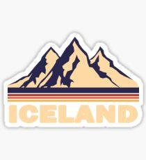 Iceland Mountain Sticker