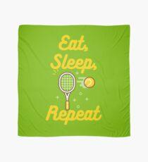 Essen Sie, schlafen Sie, Tennis, wiederholen Sie Tuch
