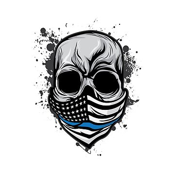Here's A Unique Design Of A Braincase Skull With An American Flag Scarf On T-shirt Design Gray Tones by Customdesign200