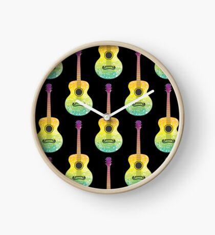 Polygonale Gitarre Uhr