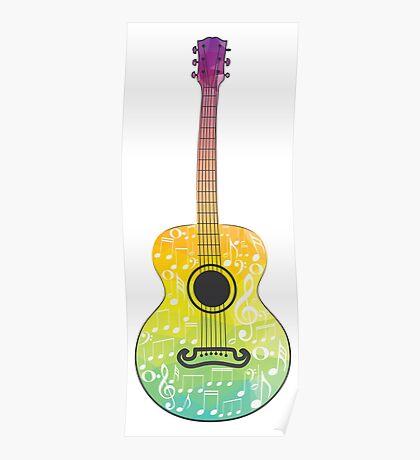 Polygonale Gitarre Poster