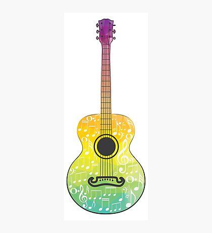 Polygonale Gitarre Fotodruck