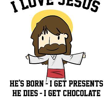 Funny Easter I Love Jesus Joke by hadicazvysavaca