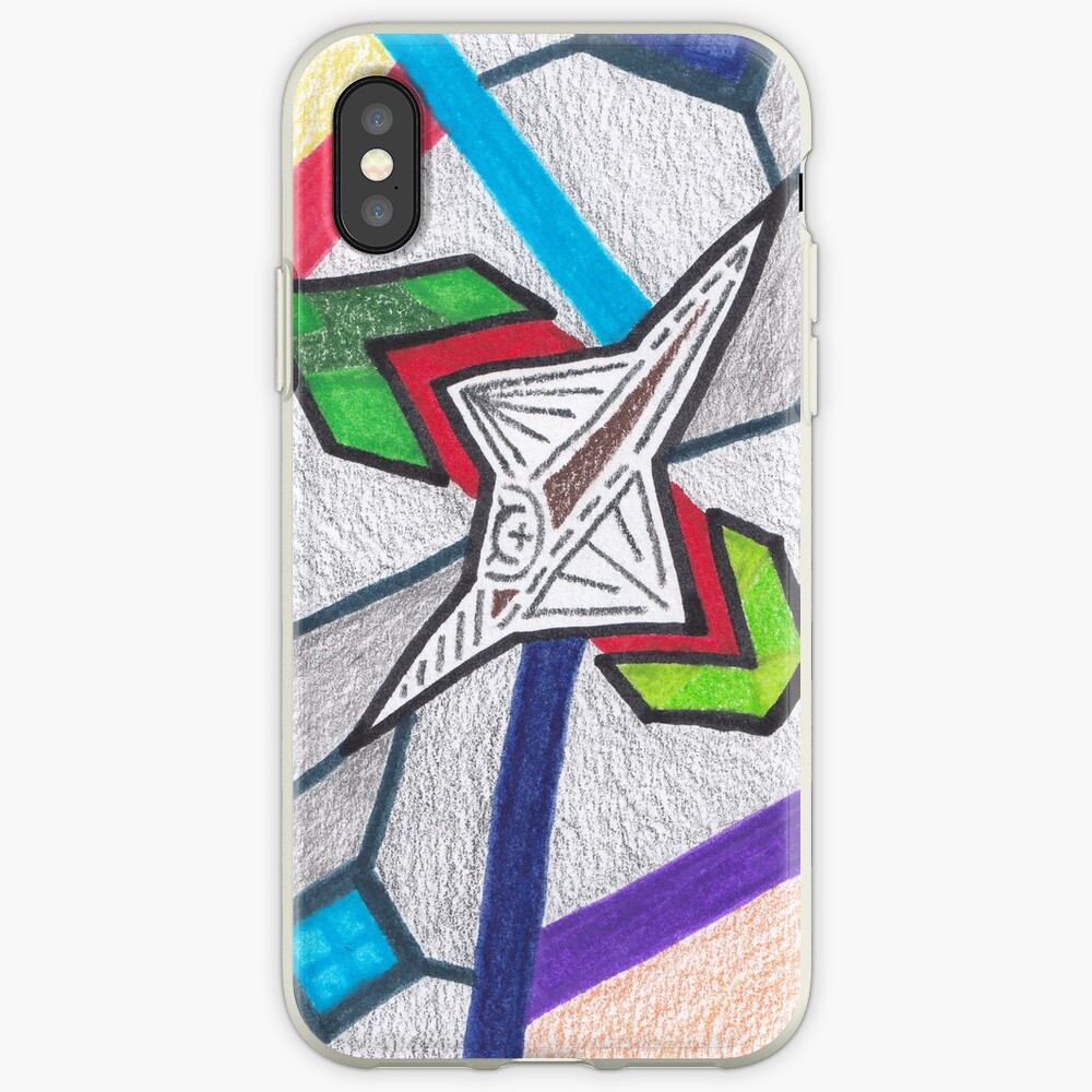 Merch #8 -- Glass Stained Abstract Pane. iPhone Cases & Covers