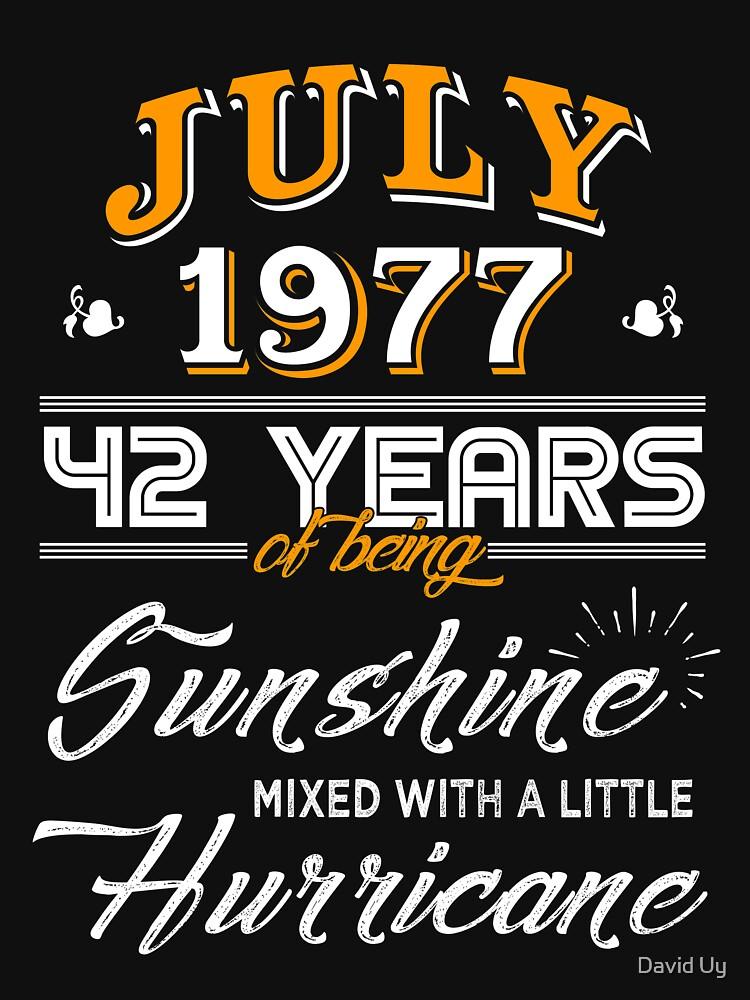 July 1977 Birthday Gifts - July 1977 Celebration Gifts - Awesome Since July 1977 by daviduy