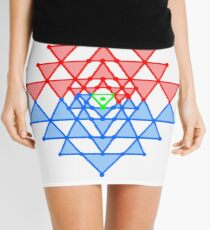 hebraic, symbol, illustration, shape, vector, design, internet, crystal, utopia, pyramid, triangle shape, geometric shape, direction, star - space, distant, circle, square, the media Mini Skirt