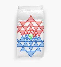 hebraic, symbol, illustration, shape, vector, design, internet, crystal, utopia, pyramid, triangle shape, geometric shape, direction, star - space, distant, circle, square, the media Duvet Cover
