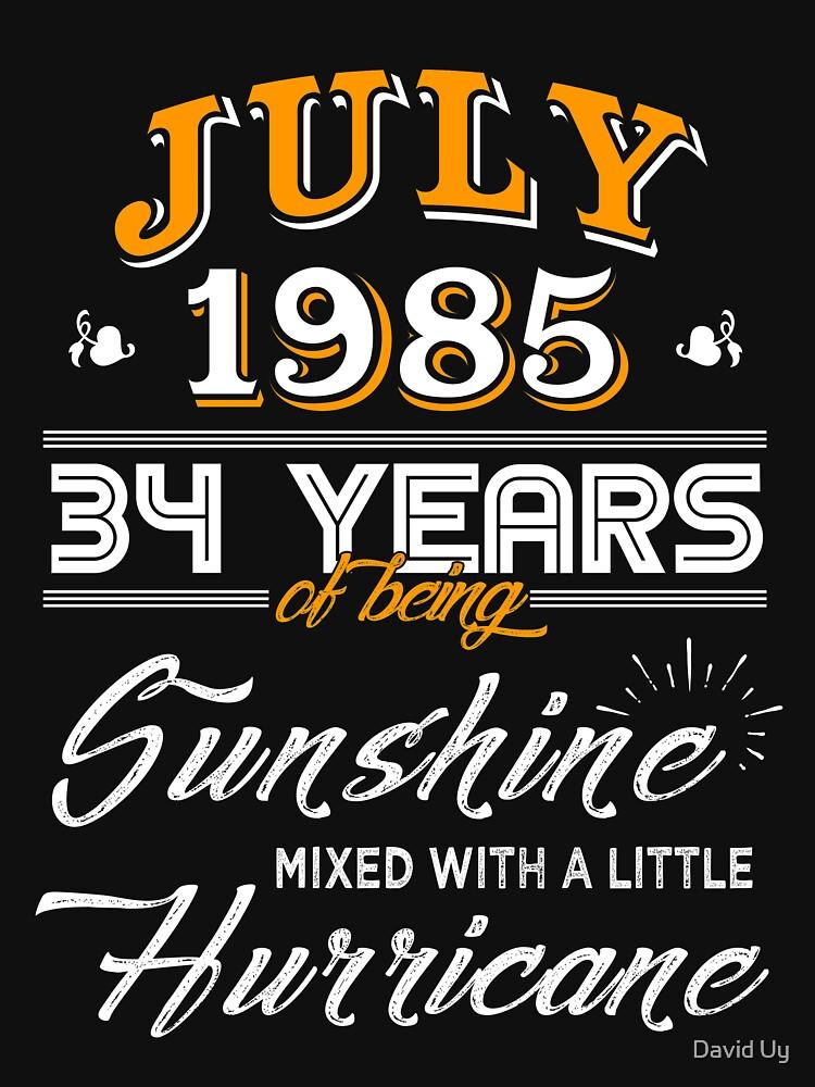 July 1985 Birthday Gifts - July 1985 Celebration Gifts - Awesome Since July 1985 by daviduy