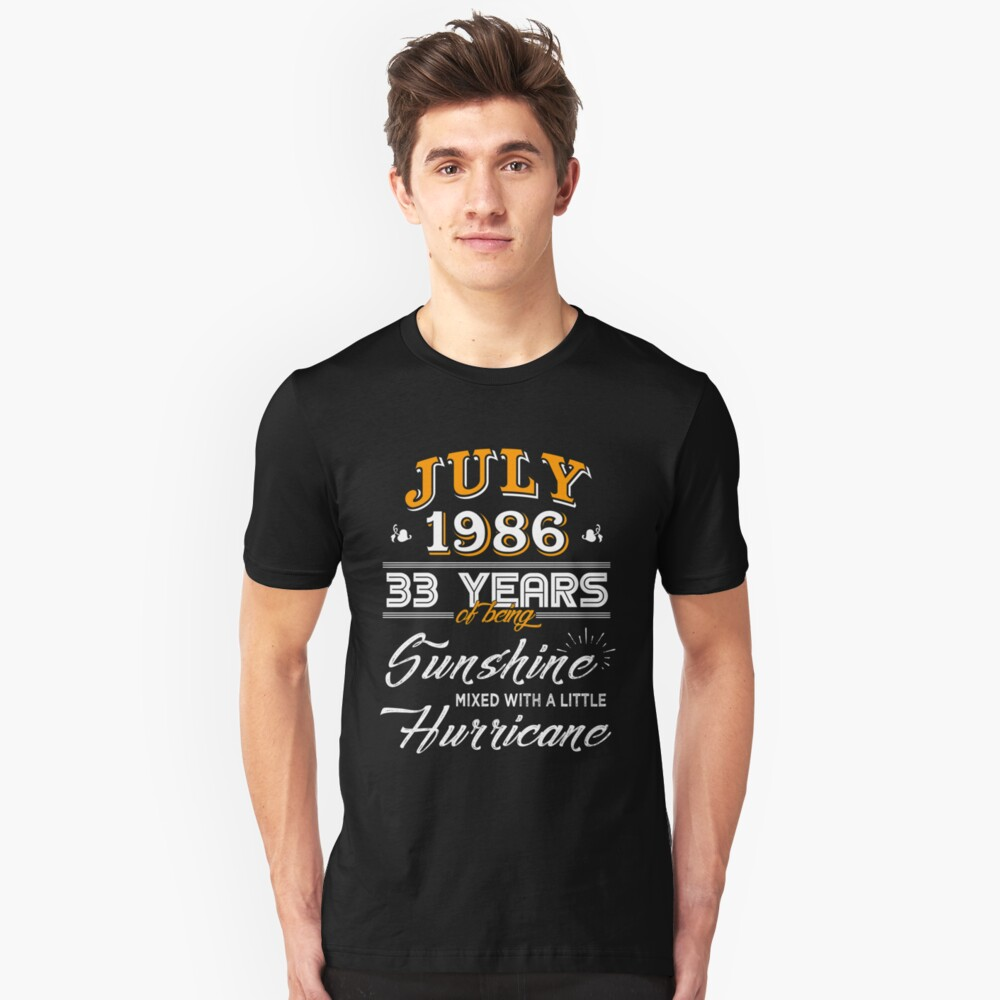 July 1986 Birthday Gifts - July 1986 Celebration Gifts - Awesome Since July 1986 Unisex T-Shirt