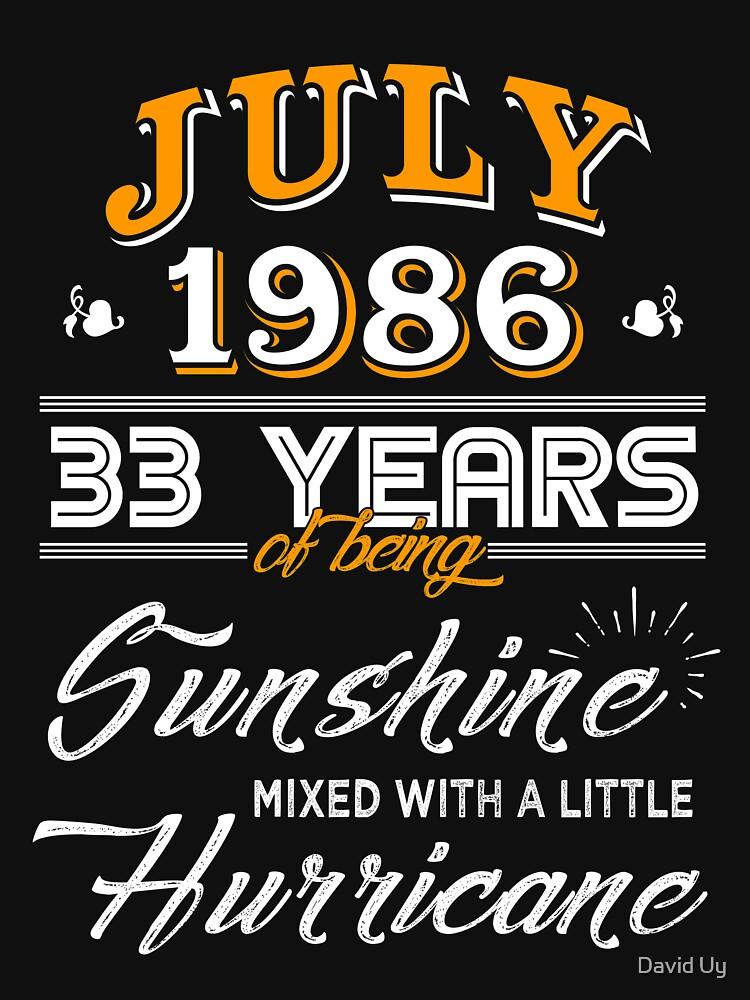 July 1986 Birthday Gifts - July 1986 Celebration Gifts - Awesome Since July 1986 by daviduy