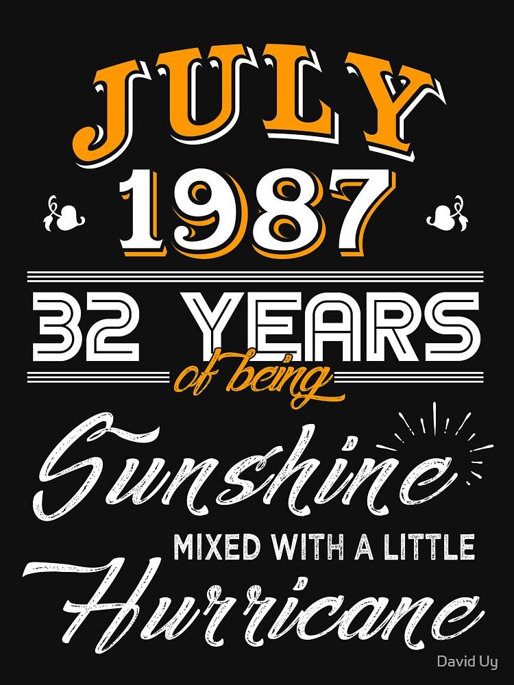 July 1987 Birthday Gifts - July 1987 Celebration Gifts - Awesome Since July 1987 by daviduy