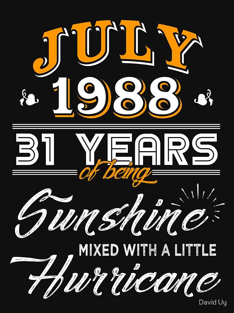 July 1988 Birthday Gifts - July 1988 Celebration Gifts - Awesome Since July 1988 by daviduy